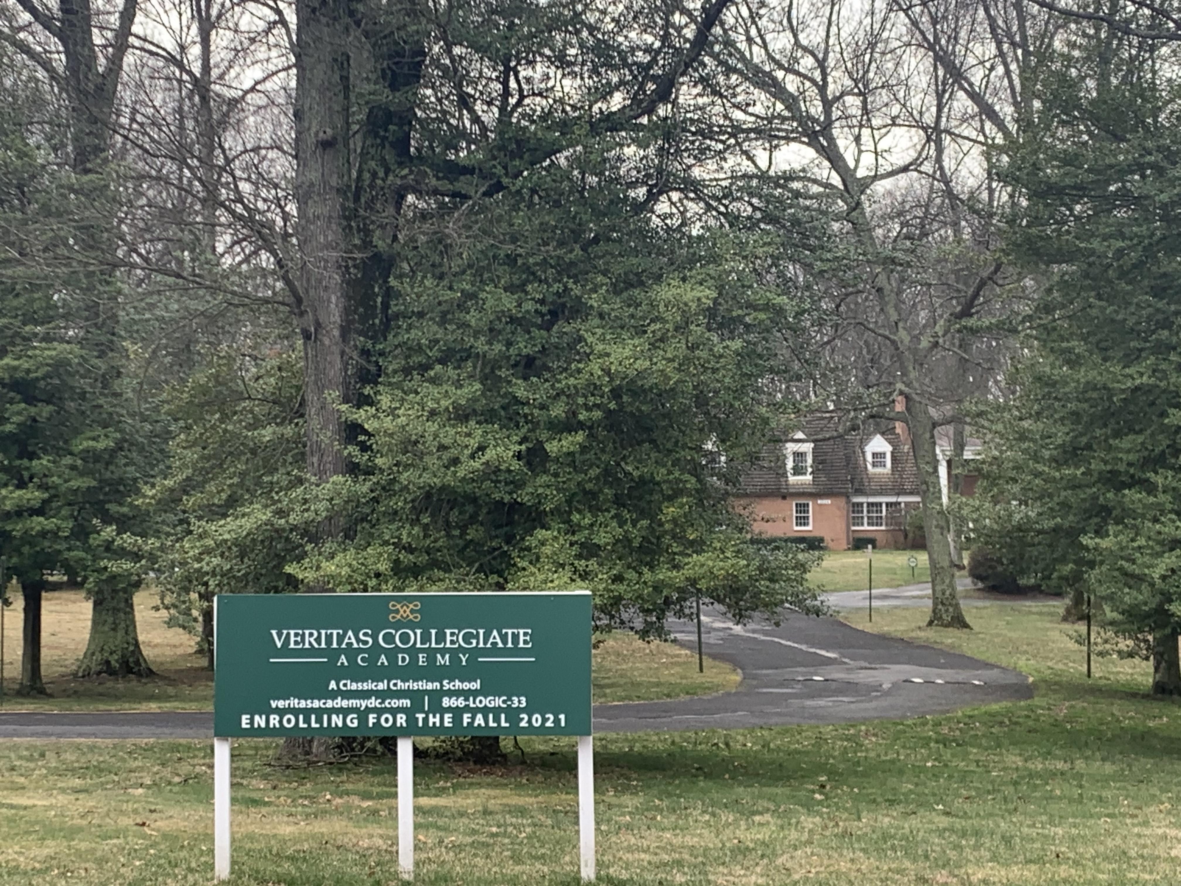 Veritas Collegiate Academy Sign Far